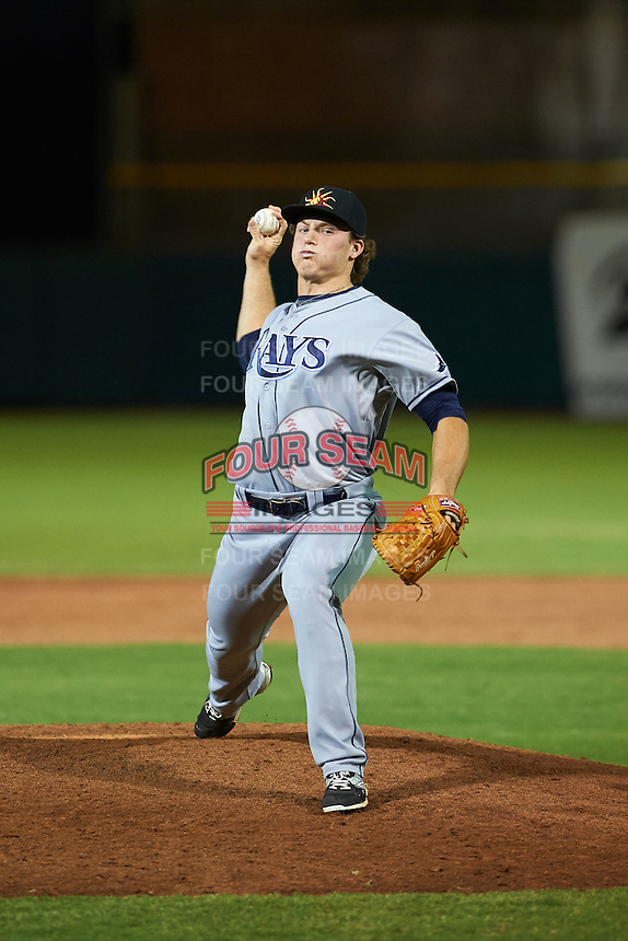 Mesa Solar Sox pitcher Brad Schreiber (39) delivers a pitch during an Arizona Fall League game against the Scottsdale Scorpions on October 20, 2015 at Scottsdale Stadium in Scottsdale, Arizona.  Mesa defeated Scottsdale 5-4.  (Mike Janes/Four Seam Images)