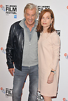 Paul Verhoeven and Isabelle Huppert at the &quot;Elle&quot; 60th BFI London Film Festival Official Competition screening, The Embankment Garden Cinema, Villiers Street, London, England, UK, on Saturday 08 October 2016.<br /> CAP/CAN<br /> &copy;CAN/Capital Pictures /MediaPunch ***NORTH AND SOUTH AMERICAS ONLY***