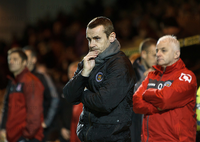 Dejection for St Mirren boss Danny Lennon just before the final whistle