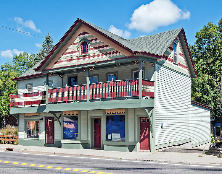 A painted building in the painted village of Tannersville, NY