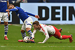16.03.2019, VELTINS-Arena, Gelsenkirchen, GER, DFL, 1. BL, FC Schalke 04 vs RB Leipzig, DFL regulations prohibit any use of photographs as image sequences and/or quasi-video<br /> <br /> im Bild v. li. im Zweikampf Ahmed Kutucu (#15, FC Schalke 04) Timo Werner (#11, RB Leipzig) <br /> <br /> Foto © nph/Mauelshagen