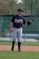 Atlanta Braves minor leaguer Eric Campbell during Spring Training at Disney's Wide World of Sports on March 14, 2007 in Orlando, Florida.  (Mike Janes/Four Seam Images)