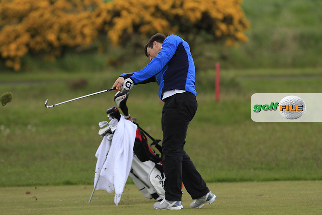 Colin Fairweather (Knock) on the 13th fairway during Round 3 of the Irish Amateur Open Championship at Royal Dublin on Saturday 9th May 2015.<br /> Picture:  Thos Caffrey / www.golffile.ie