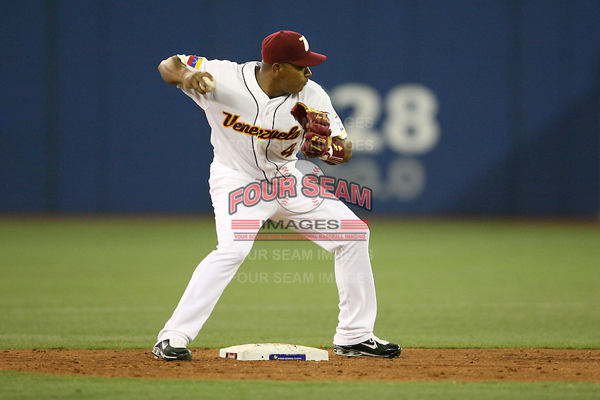 March 8, 2009:  Jose Lopez (4) of Venezuela during the first round of the World Baseball Classic at the Rogers Centre in Toronto, Ontario, Canada.  Venezuela lost to Team USA 15-6 in both teams second game of the tournament.  Photo by:  Mike Janes/Four Seam Images