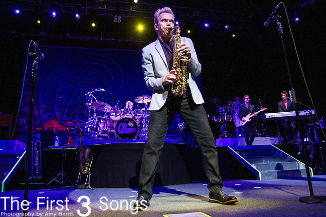 Walter Parazaider of Chicago performs at Riverbend Music Center in Cincinnati, Ohio.