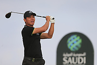 Ashun Wu (CHN) on the 2nd tee during the 2nd round of  the Saudi International powered by Softbank Investment Advisers, Royal Greens G&CC, King Abdullah Economic City,  Saudi Arabia. 31/01/2020<br /> Picture: Golffile | Fran Caffrey<br /> <br /> <br /> All photo usage must carry mandatory copyright credit (© Golffile | Fran Caffrey)
