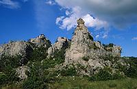"""Europe/France/Auvergne/12/Aveyron/Le Larzac: Rochers """"Chaos ruiniforme du Rajal Del Corp"""""""