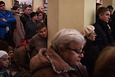 Owners of the appartments at Presnya district gather for a meeting with the head of their district in Moscow. / Abrisspläne in Moskau 2017 für über 1 Million Menschen, Demolition plans in Moscow for over 1 Million people