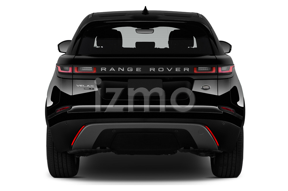 Straight rear view of 2020 Land Rover Range-Rover-Velar S 5 Door SUV Rear View  stock images
