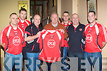 NEW MANAGER: The new Tralee Dynamos manager Brian McCarthy with some of players at the Grand hotel, Tralee on Monday l-r: James Surgue, Brian Fitzgerald, Ger Moloney, Brian McCarthy, Maurice O'Rahilly Colm Clifford and Jonathan Burrows...