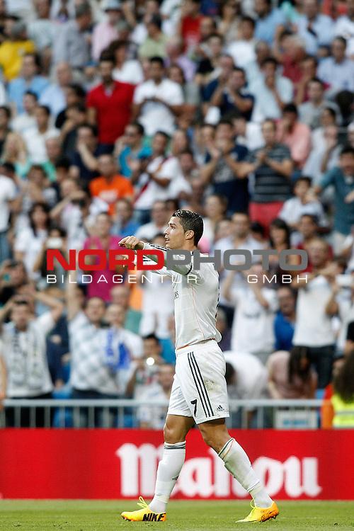 Real Madrid's Cristiano Ronaldo celebrates goal during La Liga match.September 22,2013. Foto © nph / Acero)