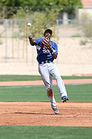 Dee Gordon, Los Angeles Dodgers 2010 minor league spring training..Photo by:  Bill Mitchell/Four Seam Images.