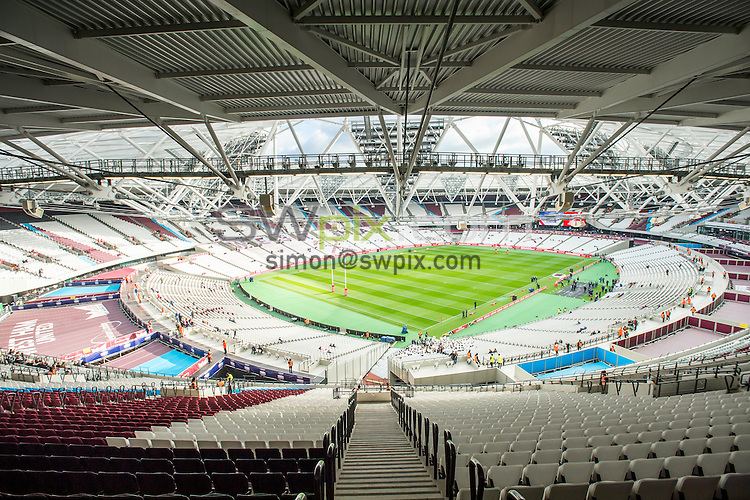 Picture by Allan McKenzie/SWpix.com - 13/11/2016 - Rugby League - 2016 Ladbrokes Four Nations - England v Australia - The Olympic Stadium, London, England - The brief, a general view of London Stadium, GV.