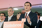 Ciudadanos (Citizens) party leader Albert Rivera speaks after learning the final general elections results at Hotel Eurobuilding. December 20,2015. (ALTERPHOTOS/Acero)