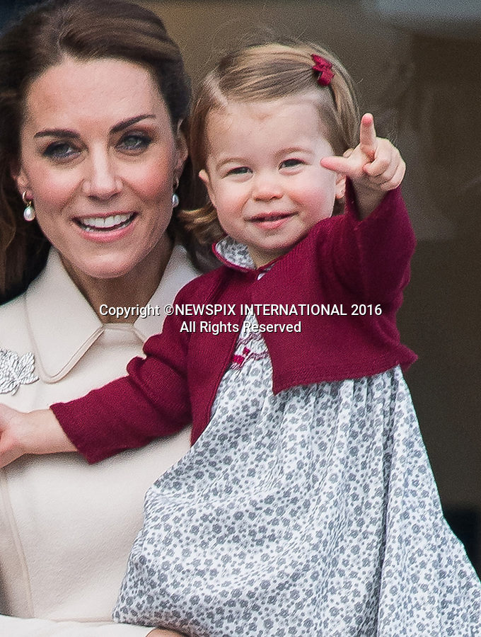 PRINCESS CHARLOTTE<br /> The daughter of the Duke and Duchess of Cambridge will be 2-years-old on the 2nd of May 2017.<br /> These images are a retrospective from birth to the present, showing the Princess on the rare public appearances.<br /> <br /> 01.10.2016; Victoria, Canada: DUKE AND DUCHESS OF CAMBRIDGE, PRINCE GEORGE AND PRINCESS CHARLOTTE<br /> departed from Victoria Harbour by float plane at the end of their tour of Canada.<br /> Mandatory Photo Credit: &copy;Francis Dias/NEWSPIX INTERNATIONAL<br /> <br /> IMMEDIATE CONFIRMATION OF USAGE REQUIRED:<br /> Newspix International, 31 Chinnery Hill, Bishop's Stortford, ENGLAND CM23 3PS<br /> Tel:+441279 324672  ; Fax: +441279656877<br /> Mobile:  07775681153<br /> e-mail: info@newspixinternational.co.uk<br /> Usage Implies Acceptance of Our Terms &amp; Conditions<br /> Please refer to usage terms. All Fees Payable To Newspix International