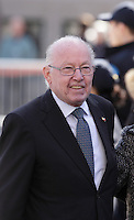 Former Quebec Premier Bernard Landry<br /> <br /> attend<br /> the funerals of Jean Lapierre, former politician and media,<br />  April 16, 2016 in Outremont.<br /> <br /> Photo : Pierre Roussel - Agence Quebec Presse<br /> <br /> <br /> <br /> <br /> <br /> <br /> <br /> <br /> .