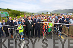 Minister Leo Varadkar pictured opening of the Annascaul Road on Friday last.