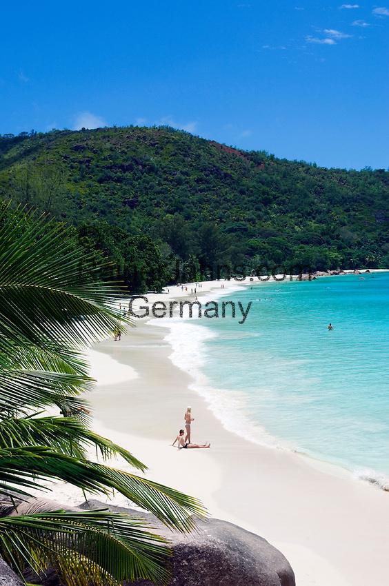Seychelles, Island Praslin, Anse Lazio: Praslin's most beautiful beach<br />
