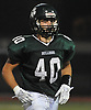 Jack Whiney #40 of Lindenhurst heads back to the sideline after recovering a Longwood fumble in the third quarter of a Suffolk County Division I varsity football game at Lindenhurst Middle School on Friday, Sept. 15, 2017.