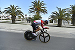 Lotto Soudal team rider does a recon of the course before the start of Stage 7 of the 53rd edition of the Tirreno-Adriatico 2018 a 10km individual time trial around San Benedetto del Tronto, Italy. 13th March 2018.<br /> Picture: LaPresse/Fabio Ferrari   Cyclefile<br /> <br /> <br /> All photos usage must carry mandatory copyright credit (&copy; Cyclefile   LaPresse/Fabio Ferrari)