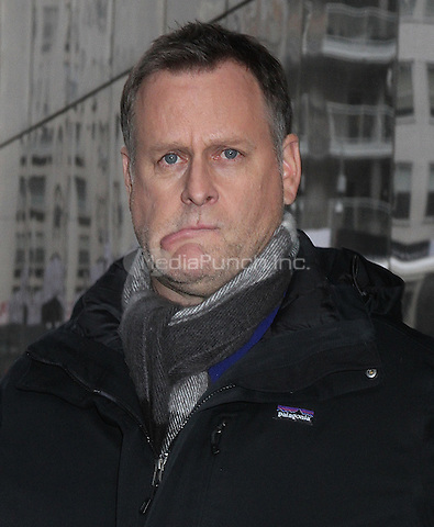 NEW YORK, NY  - JANUARY 22: Comedian Dave Coulier makes funny faces at 'Good Day New York'  where he promoted the Netflix series 'Fuller House' in New York, New York on January 22, 2016. Photo Credit: Rainmaker Photo/MedaPunch