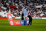 Erection of the SkyBet pre match arch. Sunderland 2 Portsmouth 1, 17/08/2019. Stadium of Light, League One. Photo by Paul Thompson.