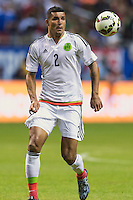 Mexico's defender Francisco Rodriguez (2) during an international friendly at the Alamodome, Wednesday, April 15, 2015 in San Antonio, Tex. USA defeated Mexico 2-0. (Mo Khursheed/TFV Media via AP Images)