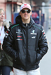 22.02.2012 Barcelona Spain. Formula One testind day2. Mercedes AMG F1 Team with German driver Michael Schumacher