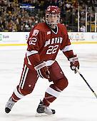 David Valek (Harvard - 22) - The Boston College Eagles defeated the Harvard University Crimson 6-0 on Monday, February 1, 2010, in the first round of the 2010 Beanpot at the TD Garden in Boston, Massachusetts.