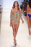 Dashil Hernandez walks runway at Luli Fama Swimwear Show during Mercedes Benz IMG Fashion Swim Week 2014 at The Raleigh Hotel, Miami Beach, FL on July 21, 2013