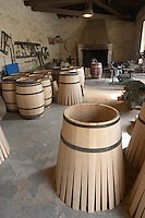 barrel making in the cooperage chateau margaux medoc bordeaux france
