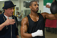 Creed (2015) <br /> Sylvester Stallone, Michael B. Jordan   <br /> *Filmstill - Editorial Use Only*<br /> CAP/MFS<br /> Image supplied by Capital Pictures