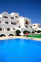 Santorini Palace Hotel pool in beautiful santorini Greece