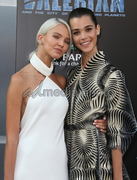 "17 July 2017 - Hollywood, California - Sasha Luss, Pauline Hoarau. ""Valerian and the City of a Thousand Planets"" World Premiere held at TCL Chinese Theatre. Photo Credit: AdMedia. Photo Credit: F. SadouAdMedia"