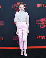 "28 June 2019 - Santa Monica, California - Sadie Sink. ""Stranger Things 3"" Los Angeles Premiere held at Santa Monica High School. Photo Credit: Birdie Thompson/AdMedia"
