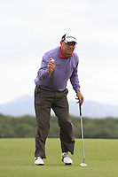 Gary Murphy (IRL) sinks his putt on the 10th green during Day 1 Thursday of The Irish Open presented by Discover Ireland at Killarney Golf & Fishing Club on 28th July 2011 (Photo Jenny Matthews/www.golffile.ie)