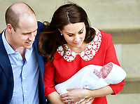 Duke and Duchess of Cambridge welcome a son at St Marys Hospital Paddington London