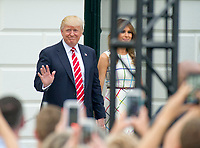 United States President Donald J. Trump and first lady Melania Trump arrive for the annual Congressional Picnic on the South Lawn of the White House in Washington, DC on Thursday, June 22, 2017.<br /> Credit: Ron Sachs / CNP /MediaPunch