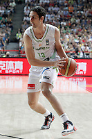 Slovenia's Domen Lorbek during 2014 FIBA Basketball World Cup Quarter-Finals match.September 9,2014.(ALTERPHOTOS/Acero)