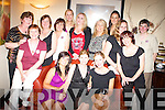 Catherine Bewicke, Millstreet, seated centre, pictured with family and friends during her hen night in Lord Kenmares restaurant, Killarney, on Saturday night.   Copyright Kerry's Eye 2008