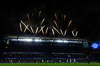 Fireworks go off over Stamford Bridge  <br /> <br /> <br /> Photographer Craig Mercer/CameraSport<br /> <br /> The Premier League - Chelsea v Watford - Monday 15th May 2017 - Stamford Bridge - London<br /> <br /> World Copyright &copy; 2017 CameraSport. All rights reserved. 43 Linden Ave. Countesthorpe. Leicester. England. LE8 5PG - Tel: +44 (0) 116 277 4147 - admin@camerasport.com - www.camerasport.com