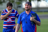 Horowhenua captain Ryan Shelford (left) and coach Chris Wilton after the 2018 Heartland Championship Lochore Cup rugby semifinal between Horowhenua Kapiti and Mid-Canterbury at Levin Domain in Levin, New Zealand on Saturday, 20 October 2018. Photo: Dave Lintott / lintottphoto.co.nz