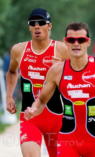 13 JUN 2010 - BEAUVAIS, FRA - Aurelien Raphael - French Grand Prix triathlon series (PHOTO (C) NIGEL FARROW)