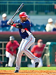 4 March 2010: Washington Nationals' outfielder Willy Taveras in action during the Nationals-Astros Grapefruit League Opening game at Osceola County Stadium in Kissimmee, Florida. The Houston Astros defeated the Nationals split-squad 15-5 in Spring Training action. Mandatory Credit: Ed Wolfstein Photo