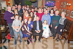 Eileen and John Joe O'Brien, Ross, Castlemaine pictured with their family and friends as they celebrated their 50th wedding anniversary in the Anvil Bar, Boolteens on Saturday night.