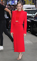 NEW YORK, NY - OCTOBER 11: Margot Robbie spotted arriving at 'Good Morning America' to promote 'Goodbye Christopher Robin' in New York, New York on October 11, 2017.  <br /> CAP/MPI/RMP<br /> &copy;RMP/MPI/Capital Pictures
