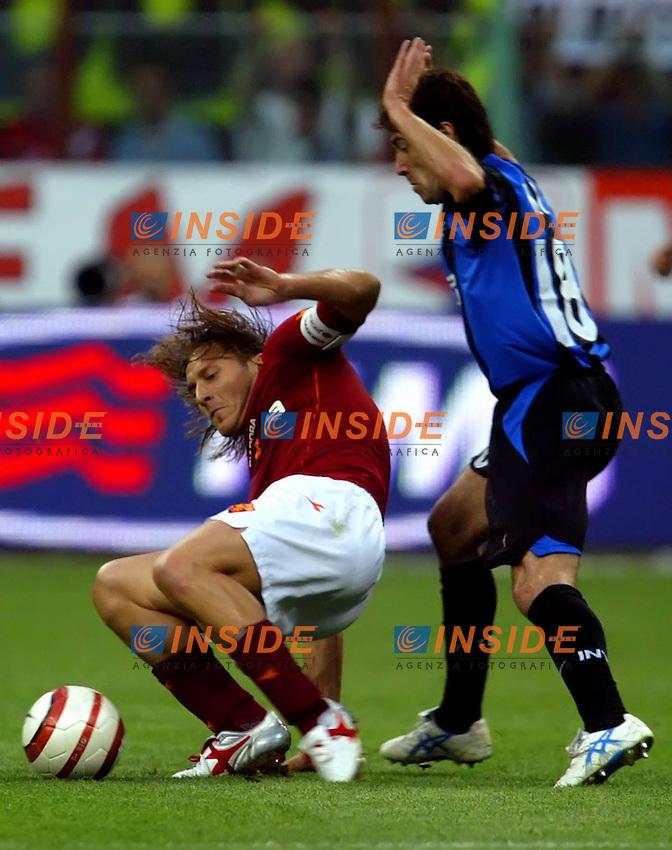Coppa Italia 2005<br /> Finale di ritorno<br /> Milano 15/06/2005<br /> ROMA-INTER<br /> Gonzalez e Totti