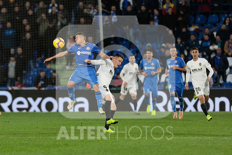 Valencia CF's Kevin Gameiro during La Liga match between Getafe CF and Valencia CF at Coliseum Alfonso Perez in Getafe, Spain. November 10, 2018.