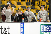 Alex Killorn (Harvard - 19), Ryan Grimshaw (Harvard - 6), Nathan Potvin, Colin Moore (Harvard - 12), Danny Biega (Harvard - 9) - The Northeastern University Huskies defeated the Harvard University Crimson 4-0 in their Beanpot opener on Monday, February 7, 2011, at TD Garden in Boston, Massachusetts.