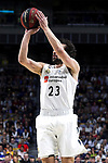 Real Madrid's Sergio Llull during Liga Endesa match between Real Madrid and FC Barcelona Lassa at Wizink Center in Madrid, Spain. March 24, 2019.  (ALTERPHOTOS/Alconada)